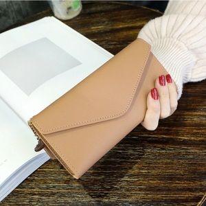 Handbags - Tassel Heart Charm Tan Wallet